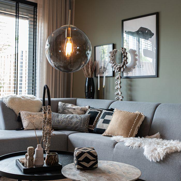 Modern-Pendant-Lamp-Brass-with-Smoke-Shade---Ball-30