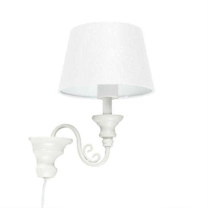 Wall-Lamp-Marilla-E27-White-with-White-Shade