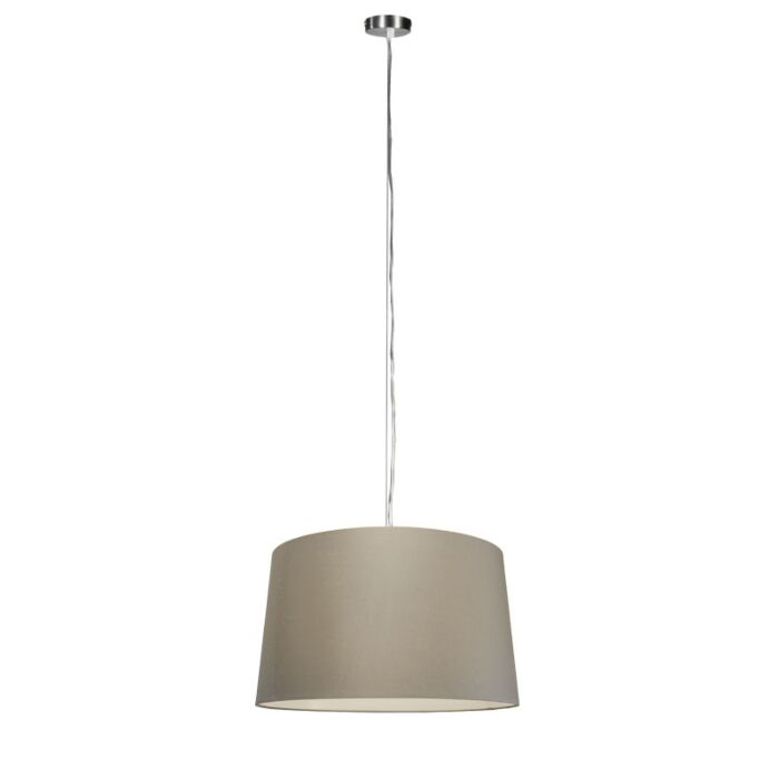 Modern-hanging-lamp-steel-with-shade-45-cm-taupe---Cappo-1