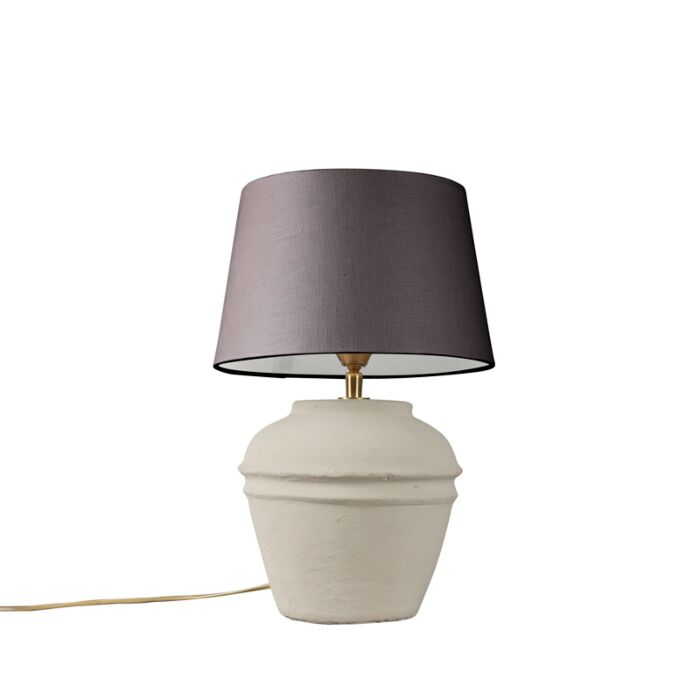 Table-Lamp-Arta-XS-Grey-with-Brown-Grey-Shade