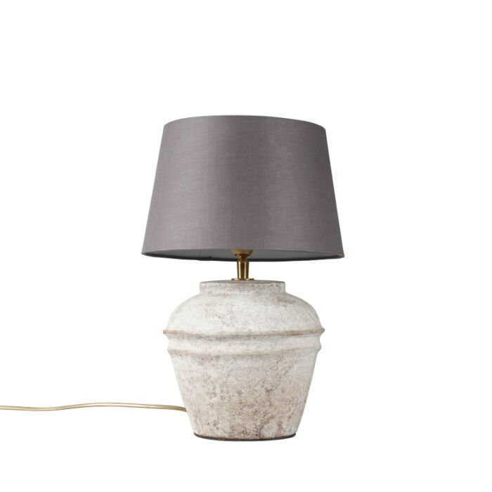 Table-Lamp-Arta-XS-Scotch-with-Brown-Grey-Shade