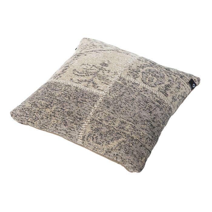 Vintage-Square-Patch-Pillow-Grey/Beige-45x45cm---Agra
