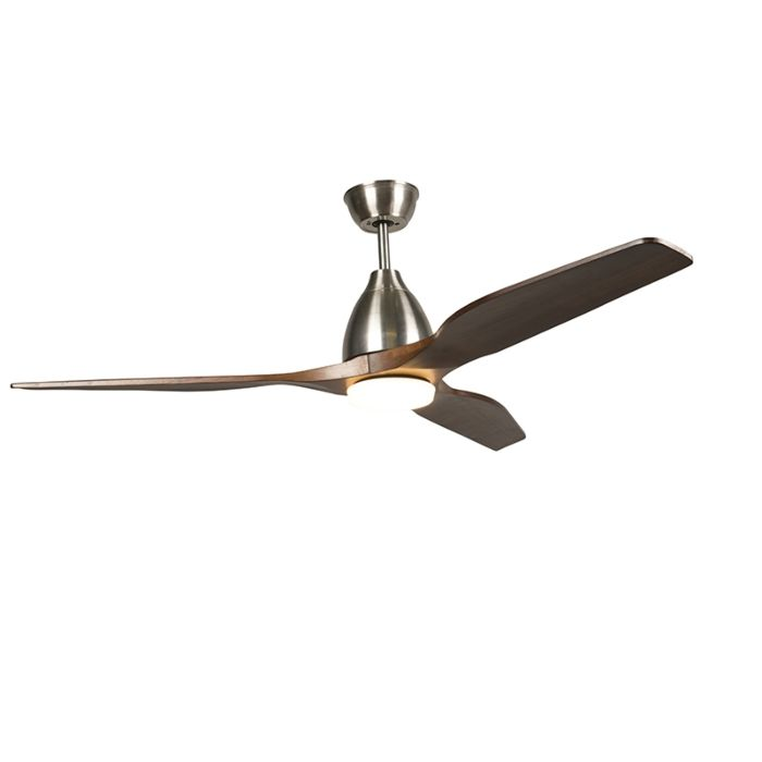 Wood-ceiling-fan-incl.-LED-with-remote-control---Levant-52