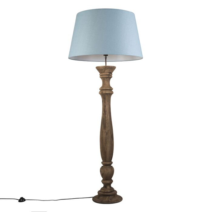 Floor-Lamp-Ritual-Natural-with-Shade-70cm-Blue