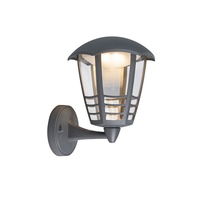 Modern-Outdoor-Wall-Lamp-Dark-Grey-incl.-LED---Mara