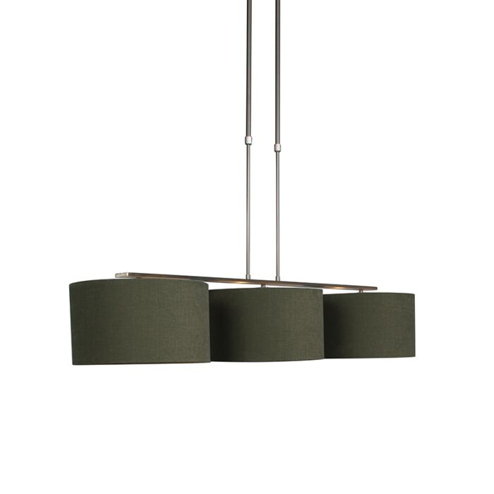 Hanging-lamp-steel-with-shade-35-cm-moss-green---Combi-3-Deluxe