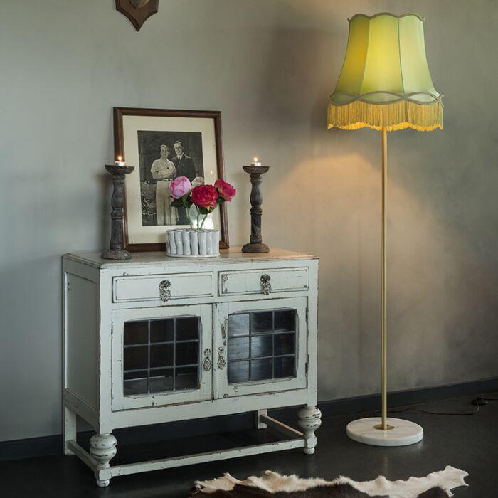 Retro-floor-lamp-brass-with-Granny-shade-green-45-cm---Kaso