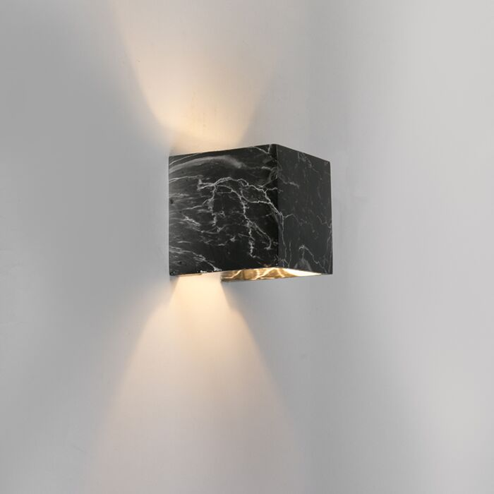 Country-Square-Wall-Lamp-Black-Marble---Alban