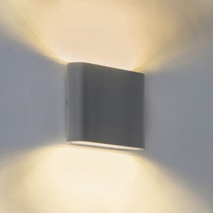 Modern-Wall-Lamp-11.5cm-Graphite-IP54-incl.LED---Batt