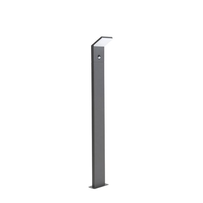 Modern-Outdoor-Pole-100cm-Dark-Grey-with-Motion-Sensor-incl.-LED---Mapi