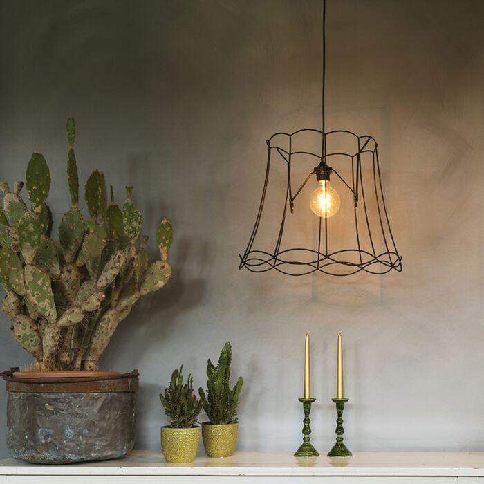 Retro-hanging-lamp-black-45-cm---Granny-Frame