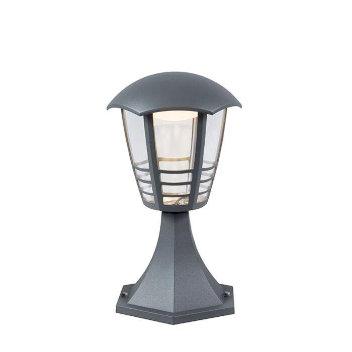 Modern-Outdoor-Pedestal-30cm-Dark-Grey-incl.-LED---Mara