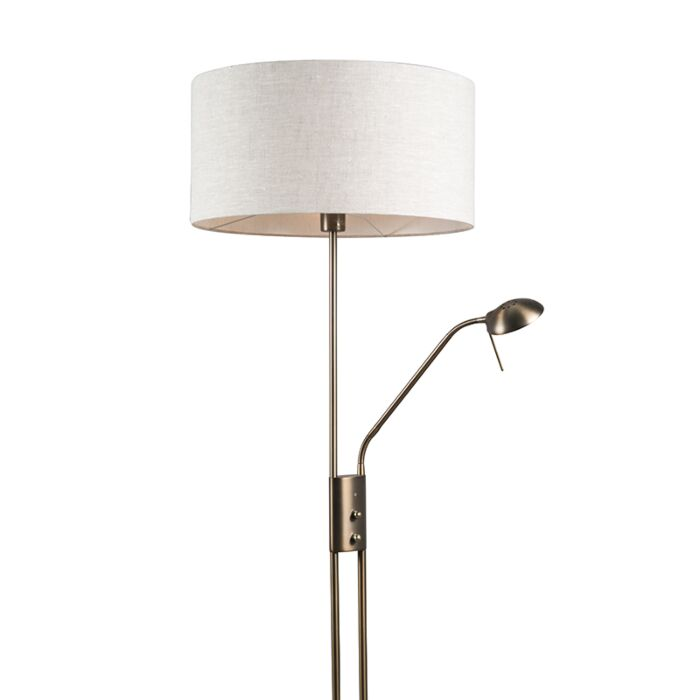 Floor-Lamp-Luxor-Bronze-with-Pepper-Cylinder-Shade