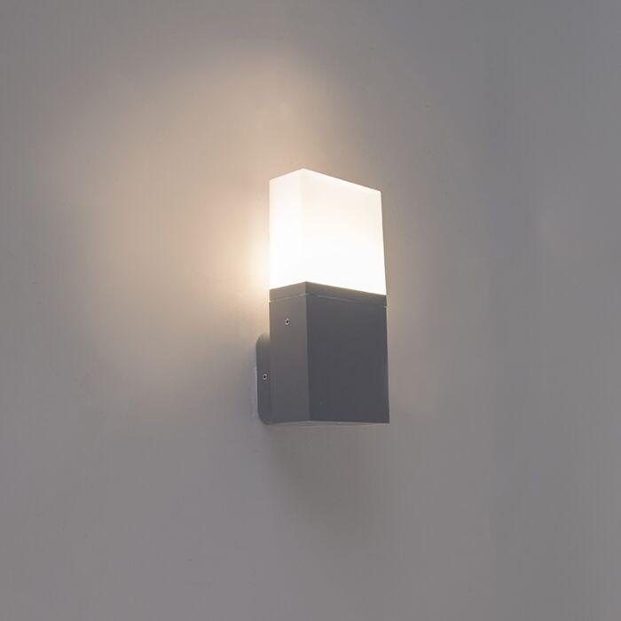 Modern-exterior-wall-lamp-dark-gray-incl.-LED-IP54---Malia