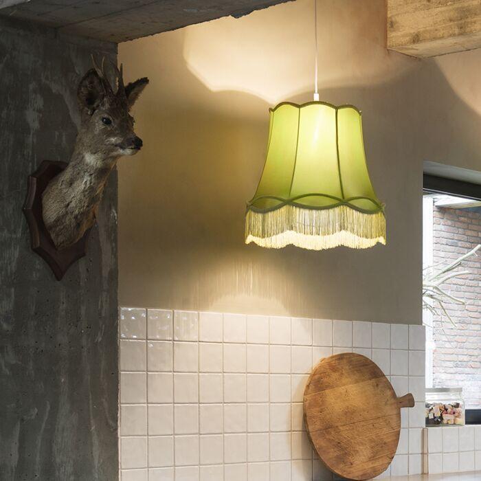 Retro-hanging-lamp-green-45-cm---Granny