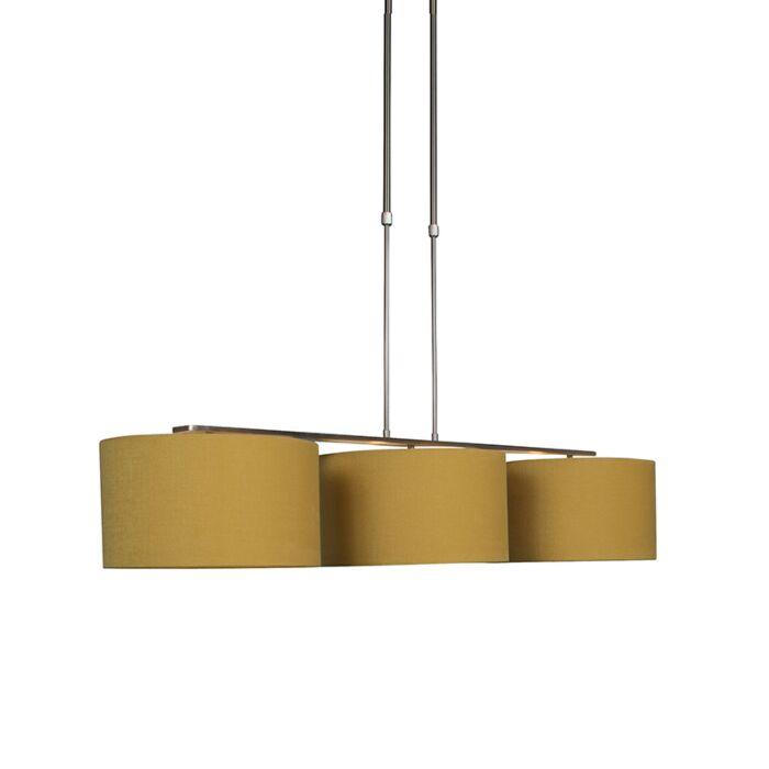 Modern-hanging-lamp-steel-with-shade-35-cm-corn---Combi-3-Deluxe