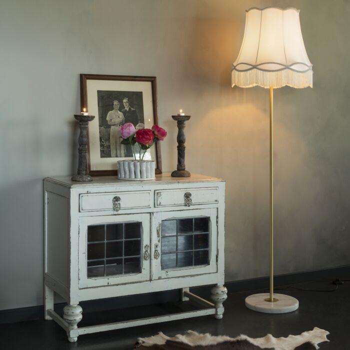 Retro-floor-lamp-brass-with-Granny-shade-cream-45-cm---Kaso