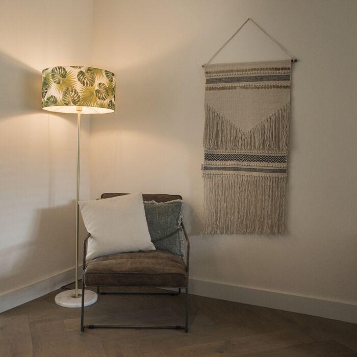 Brass-floor-lamp-with-leaf-shade-50-cm---Kaso