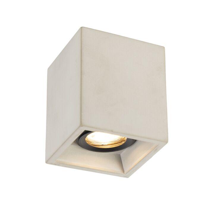Rural-square-ceiling-spotlight-concrete---Qubo