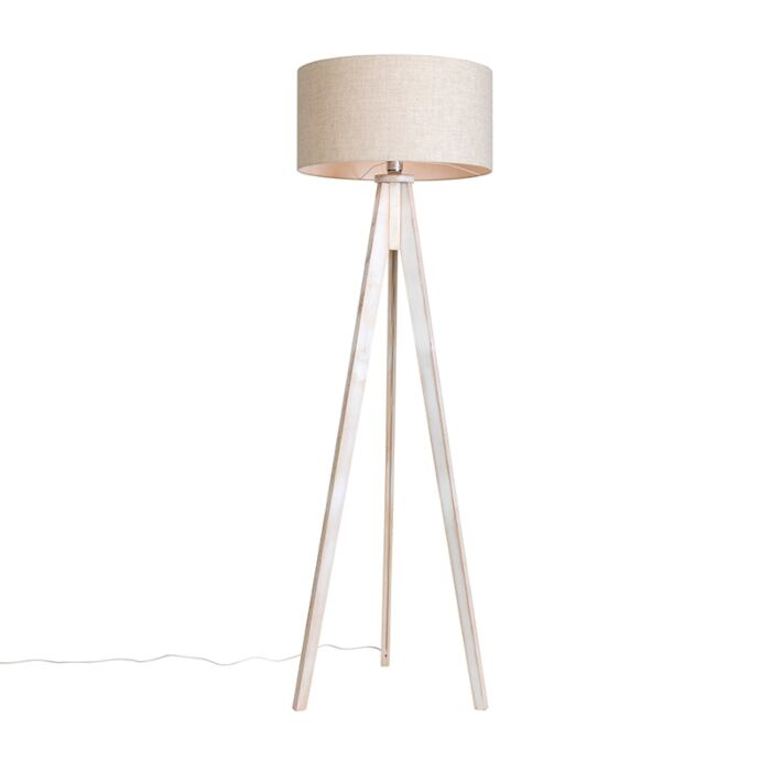 Floor-Lamp-Tripod-Classic-White-with-Cylinder-Shade-Pepper