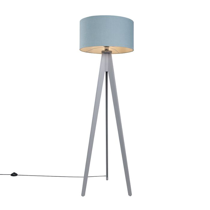 Floor-Lamp-Tripod-Classic-Grey-with-Mineral-Cylinder-Shade