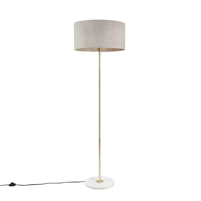 Brass-floor-lamp-with-gray-shade-50-cm---Kaso