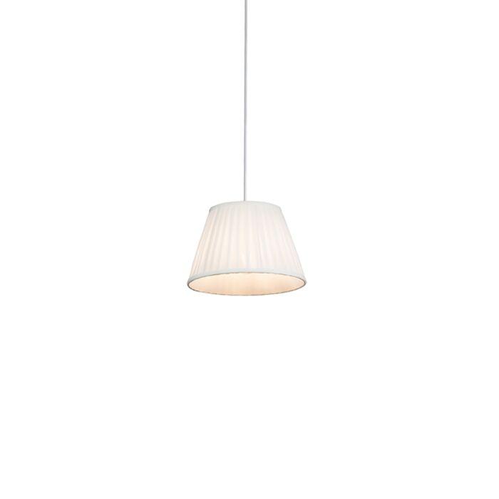 Retro-hanging-lamp-cream-25-cm---Pleated