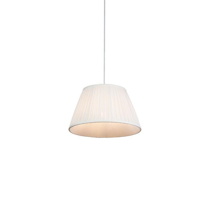 Retro-hanging-lamp-cream-35-cm---Pleated