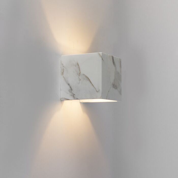 Modern-Square-Wall-Lamp-White-with-Marble-Look---Alban