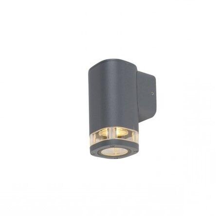 Outdoor-wall-lamp-square-1-light-dark-gray-IP54---Fox