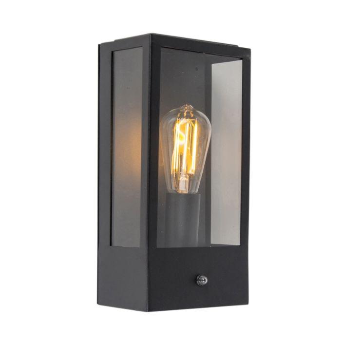 Outdoor-wall-lamp-black-with-light-dark-sensor---Rotterdam-1