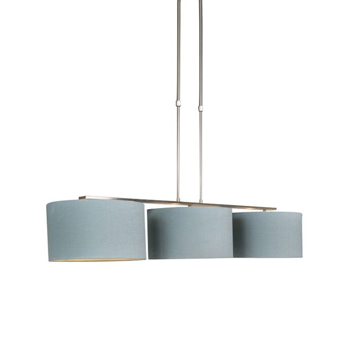 Hanging-lamp-steel-with-shade-35-cm-mineral---Combi-3-Deluxe