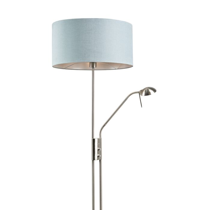 Floor-lamp-steel-and-blue-with-adjustable-reading-arm---Luxor