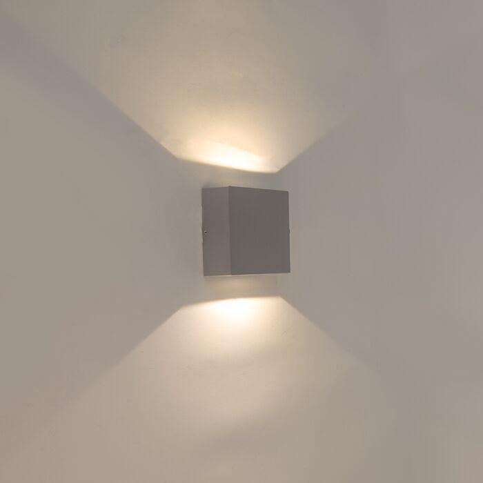 Wall-lamp-gray-IP54-incl.-LED---Squad
