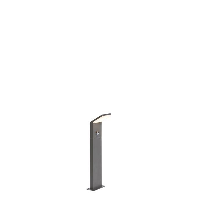 Modern-Outdoor-Pole-50cm-Dark-Grey-with-Motion-Sensor-incl.-LED---Mapi