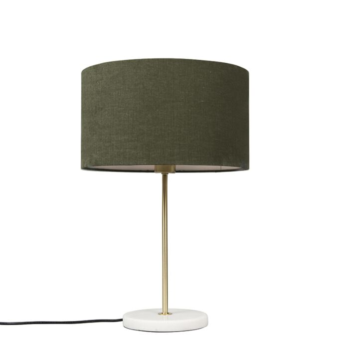 Brass-table-lamp-with-green-shade-35-cm---Kaso