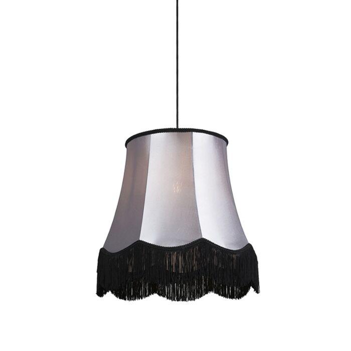 Retro-hanging-lamp-black-with-gray-45-cm---Granny