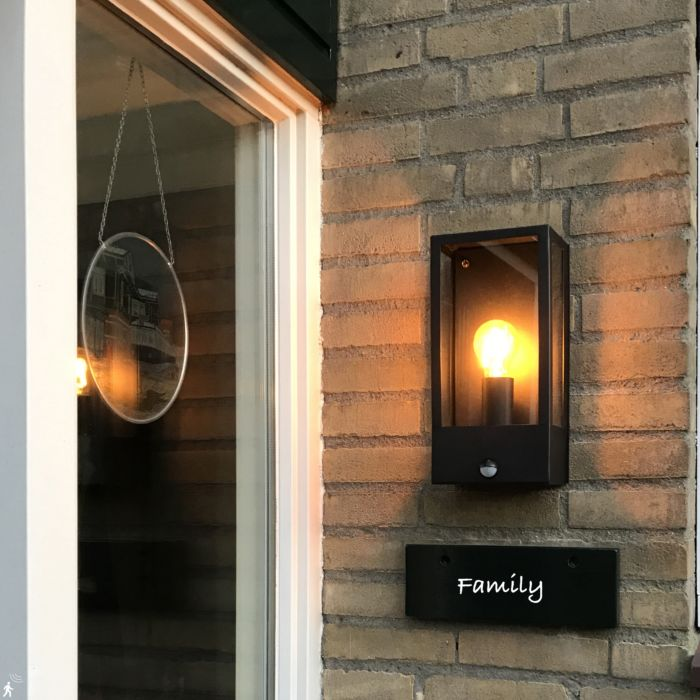 Outdoor-wall-lamp-black-with-motion-detector-IP44---Rotterdam-1