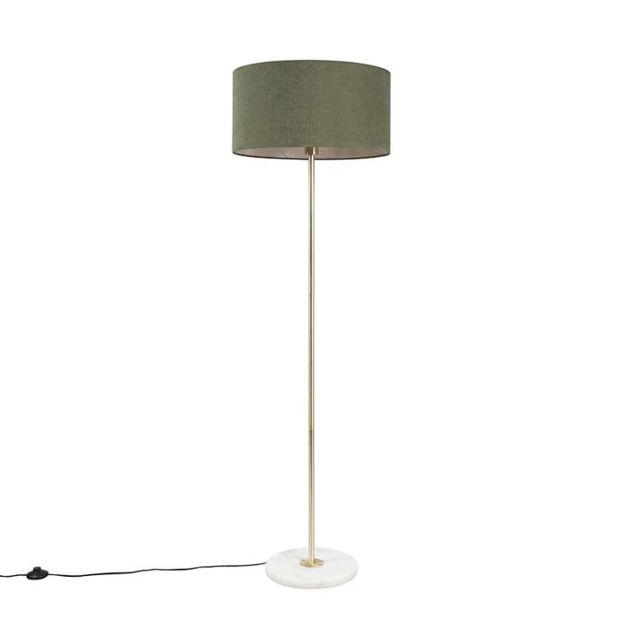 Brass-floor-lamp-with-green-shade-50-cm---Kaso