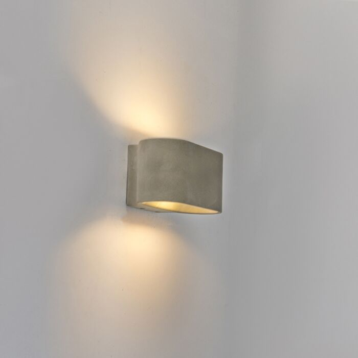 Country-Wall-Lamp-Concrete/Stone-Grey-IP54-incl.-LED---Arles
