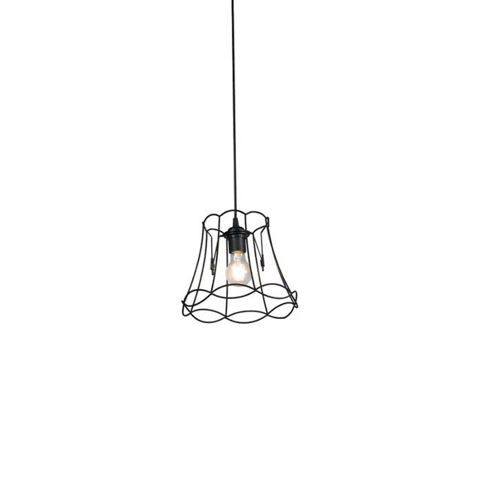 Retro-hanging-lamp-black-25-cm---Granny-Frame