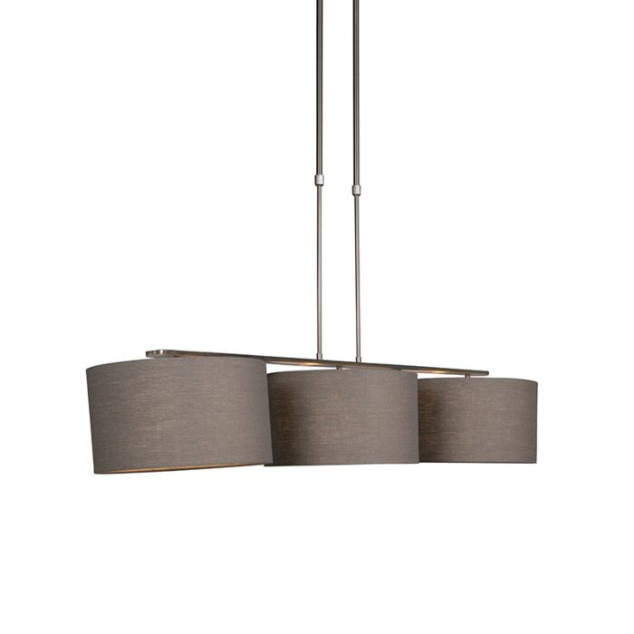 Hanging-lamp-steel-with-shade-35-cm-old-gray---Combi-3-Deluxe