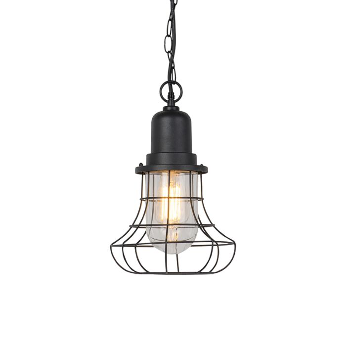 Rural-outdoor-hanging-lamp-black---Moreno