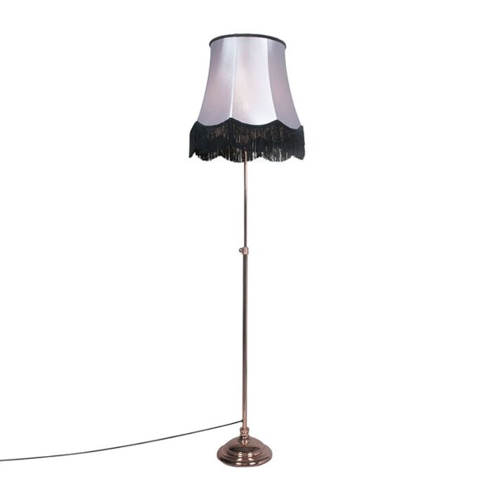 Floor-Lamp-Accia-Copper-with-Shade-Granny-B-45cm-Black-with-Grey