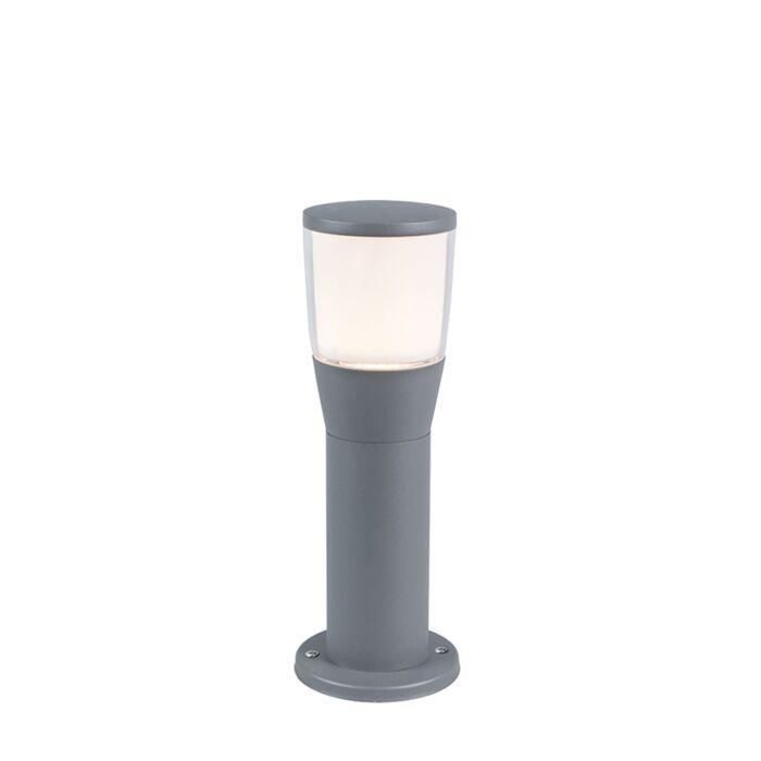 Modern-Outdoor-Pole-35cm-Grey-incl.-LED---Mona