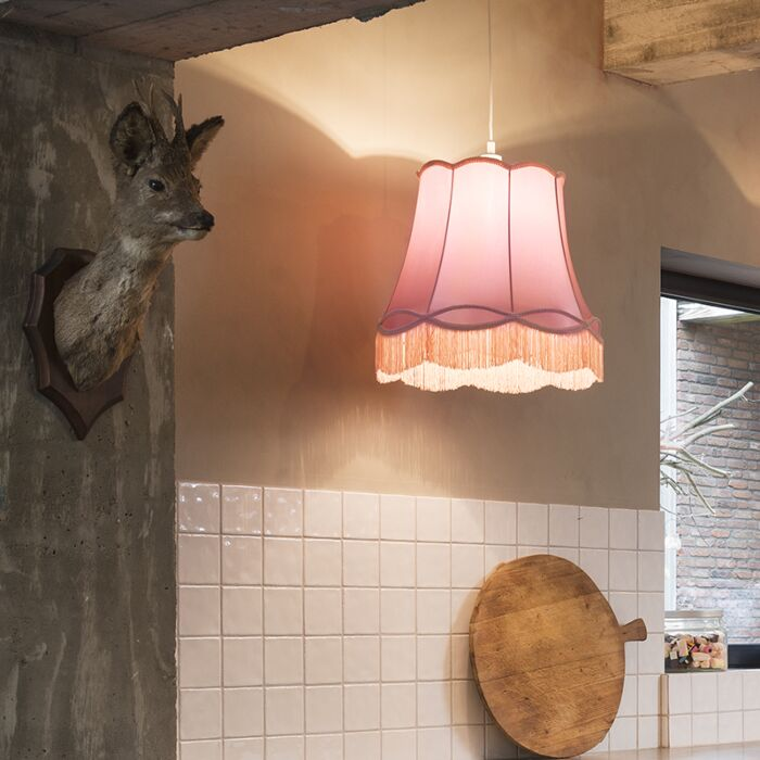 Retro-hanging-lamp-pink-45-cm---Granny
