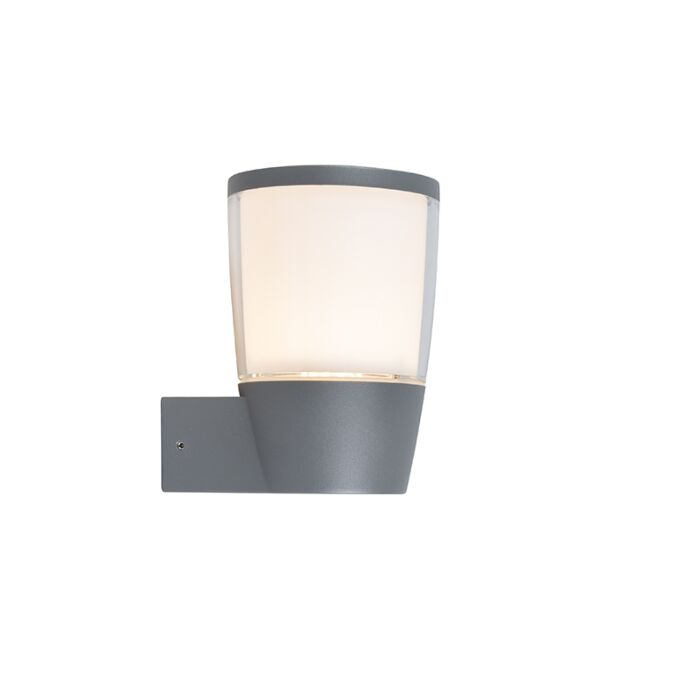 Modern-Outdoor-Wall-Lamp-Grey-incl.-LED---Mona