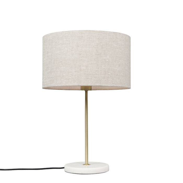 Brass-table-lamp-with-gray-shade-35-cm---Kaso