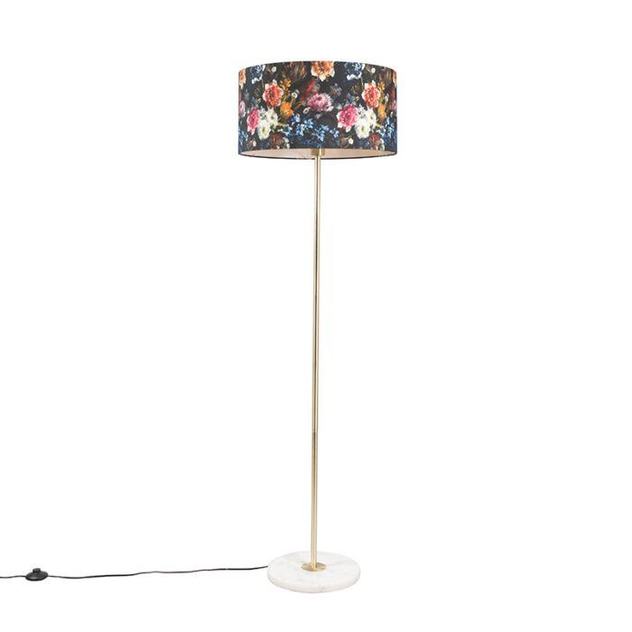 Brass-floor-lamp-with-flora-shade-50-cm---Kaso