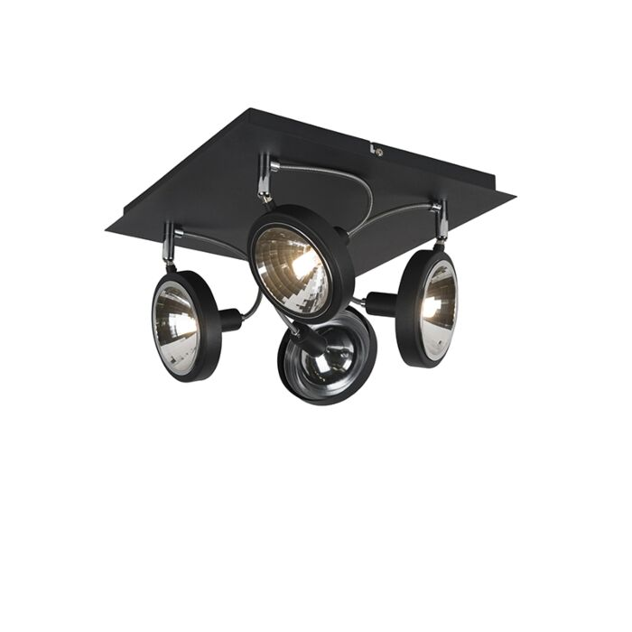 Modern-Adjustable-Ceiling-Spotlight-4-Black---Nox